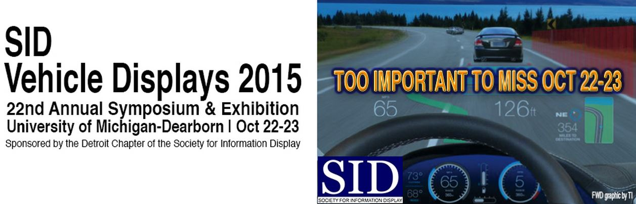 Vehicle display conference 2015