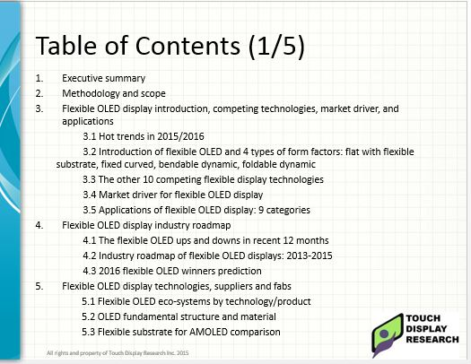 Flexible OLED 2015 report TOC1