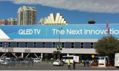 Samsung QLED TV CES 2017 sign