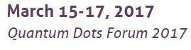 quantum dot forum 2017 date